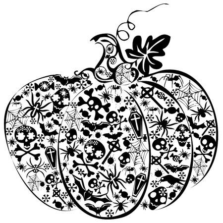 Halloween pumpkin. Vector art-illustration on a white background. Vector