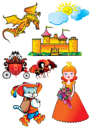 Fairy-tale. Vector art-illustration on a white background. Stock Vector - 7869621
