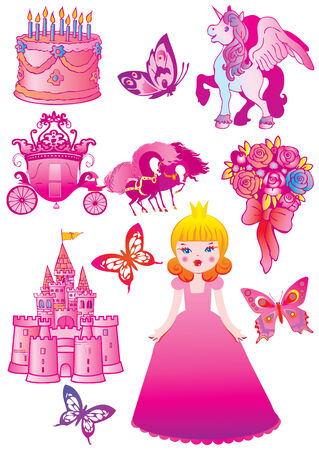 Fairy-tale. Vector art-illustration on a white background. Vector