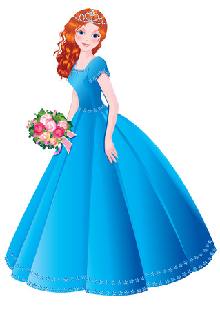 Beautiful princess. Vector art-illustration on a white background. Illustration
