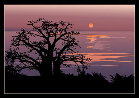 mighty: A beautiful sunset.  art-illustration.