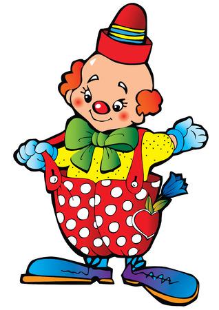 Funny clown. Stock Vector - 8100463