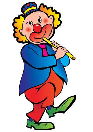 Funny clown.   Vector