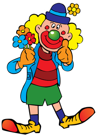 Funny clown.   Vector