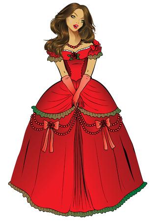 Beautiful princess.  Vector