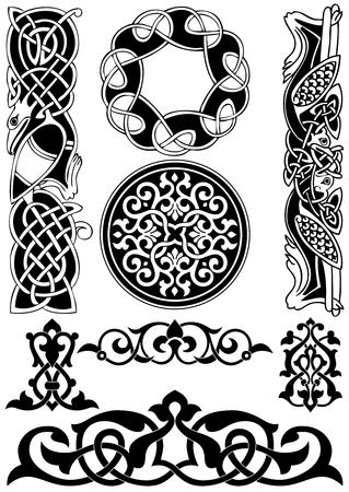 keltisch: Keltische Kunst-Sammlung auf einem wei�en Hintergrund.
