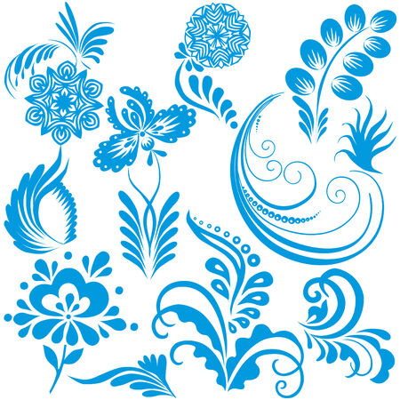 Vector design elements for Christmas and New Year on a white background. Vector
