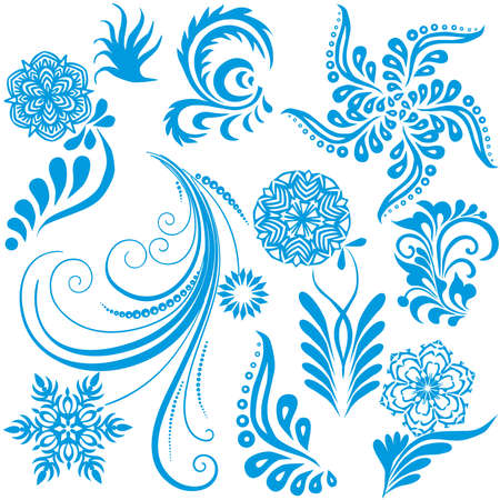Vector design elements  for Christmas and New Year on a white background. Stock Vector - 8512023