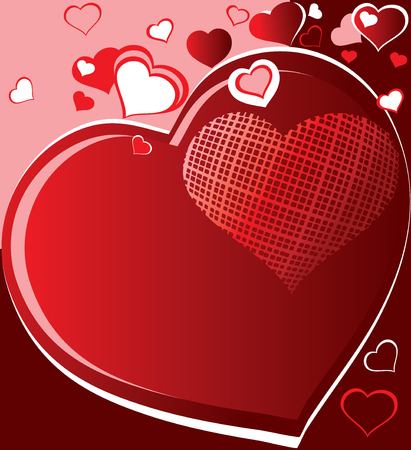 Heart. Greeting card for Valentines Day. Place for your text. Vector art-illustration. Vector