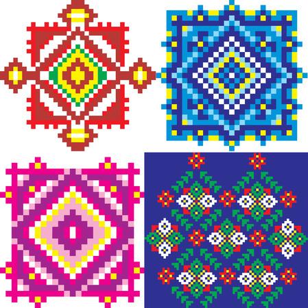 ukraine folk: Seamless embroidered good like handmade cross-stitch ethnic Ukraine pattern. art-illustration.