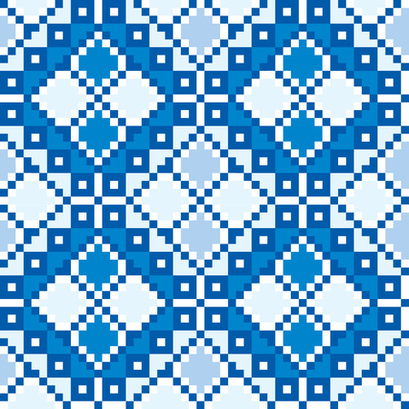 ukraine folk: Seamless embroidered good like handmade cross-stitch ethnic Ukraine pattern. art-illustration.