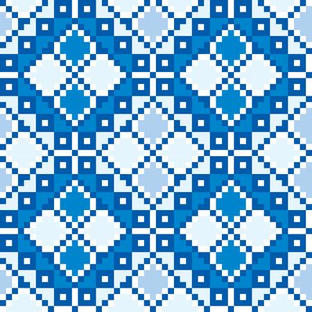 Seamless embroidered good like handmade cross-stitch ethnic Ukraine pattern. art-illustration. Vector