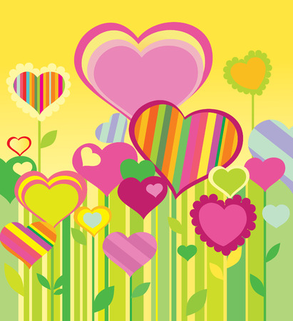 your text: Heart. Greeting card for Valentines Day. Place for your text. Vector art-illustration.