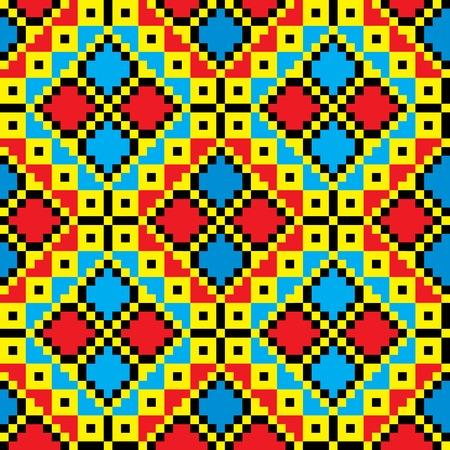 Seamless embroidered good like handmade cross-stitch ethnic Ukraine pattern. art-illustration. Stock Vector - 8667311