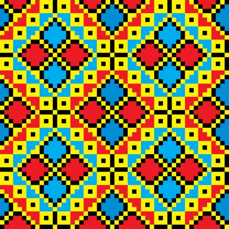 Seamless embroidered good like handmade cross-stitch ethnic Ukraine pattern. art-illustration. Vector