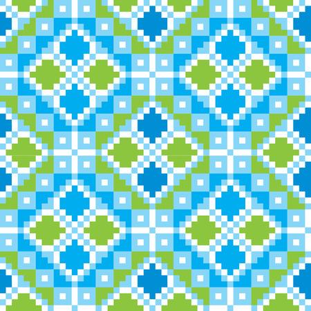 embroider: Seamless embroidered good like handmade cross-stitch ethnic Ukraine pattern. Vector art-illustration.