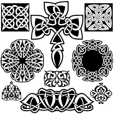 irland: Keltische Kunst-Sammlung auf einem wei�en Hintergrund.