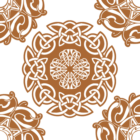 pohanský: Celtic art-collection on a white background.