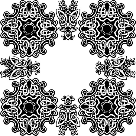 gaelic: Celtic vector ornamental pattern on a white background. Illustration