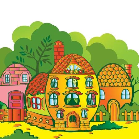 family grass: Tarjeta de felicitaci�n. Felices Pascuas. Lugar le texto. Vector arte-ilustraci�n. Vectores