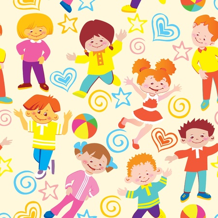 Seamless  children pattern. Vector art-illustration. Vector
