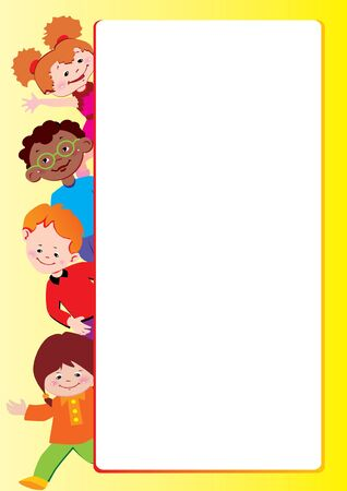 Children frame. Place for your text. Vector art-illustration.