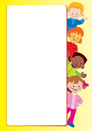 place for children: Marco de los ni�os. Lugar para el texto. Vector art-ilustraci�n. Vectores