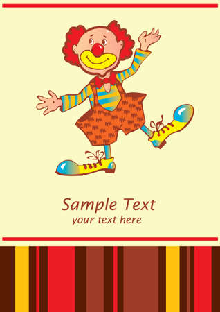 clown shoes: Funny clown  Place for your text  Vector art-illustration  Illustration