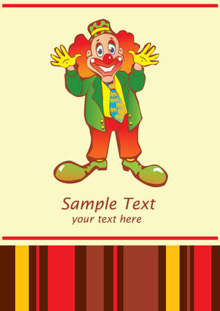 Funny clown  Place for your text  Vector art-illustration  Vector