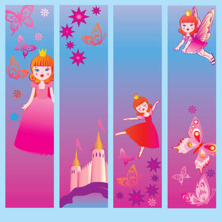 Fairy-tale banners  Place for your text  Vector art-illustration  Illustration