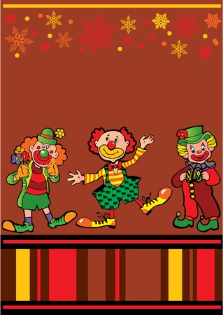 Funny clowns frame  Place for your text  Vector art-illustration Stock Vector - 13062906