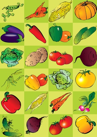 Seamless vegetables pattern Stock Vector - 12933247