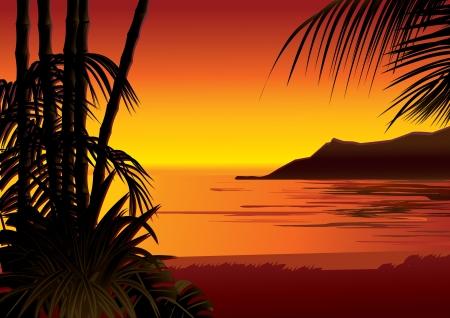 Seashore Vector kunst-illustratie