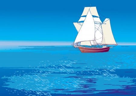 Flying Dutchman  Vector art-illustration   Vector