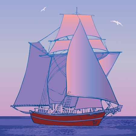 Sailboat Stock Vector - 14906392