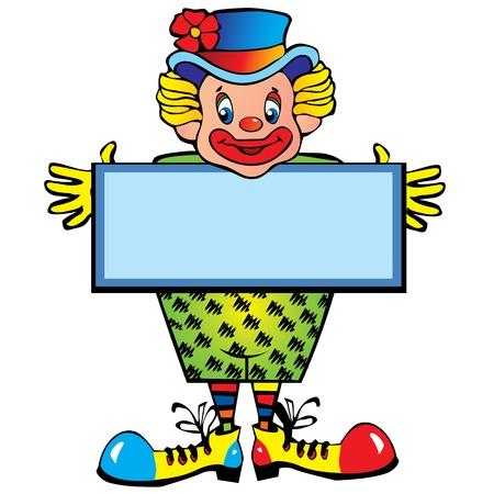 brincolin: Gracioso payaso Vector art-ilustración sobre un fondo blanco Vectores