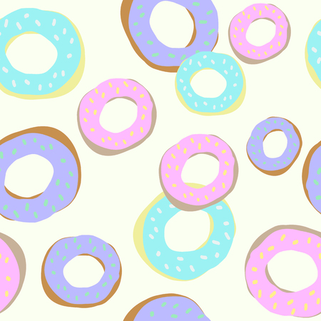 Donut seamless pattern for background, textile