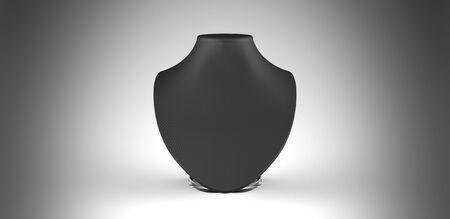 black silk: Black silk necklace display