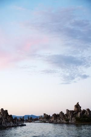 lee vining: Tufas at Mono Lake during Sunset shot in vertical orientation