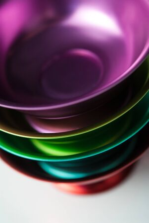 Colorful bowls stacked horizontally