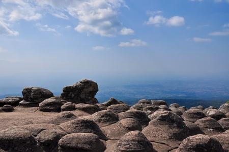 Lan Hin Poom Viewpoint at Phu Hin Rong Kla National Park  of Thailand.