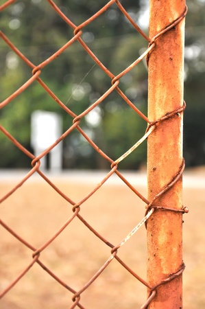 Rusty Chain-link fence
