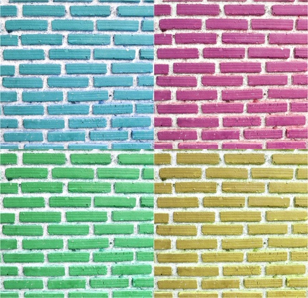 Texture of colorful brick wall