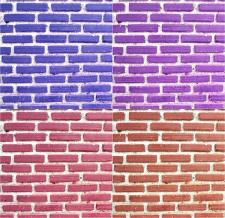 Texture of colourful brick wall