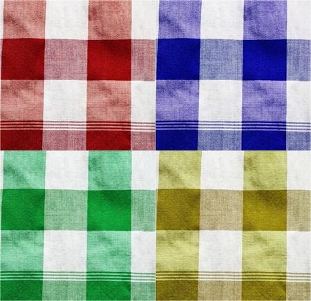 Colourful texture of thai style loincloth  photo