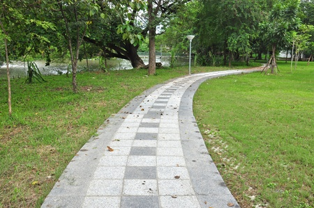 pathway in green park Stock Photo - 10854378