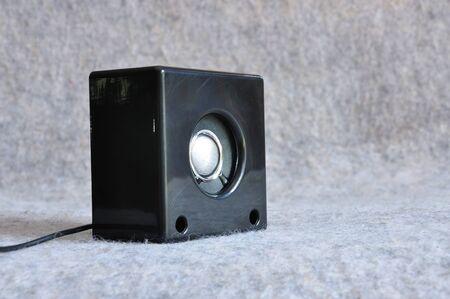 loud speaker: Black loud speaker Stock Photo