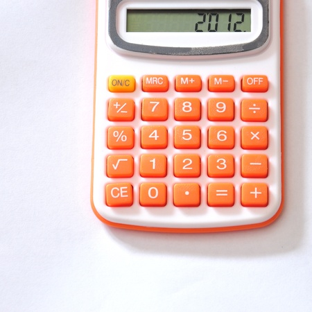 2012 on white calculator  photo
