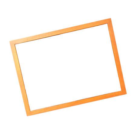 photo frame isolated on white background, wooden frame Stock Photo