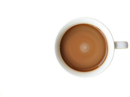 a cup of coffee isolated on white background photo